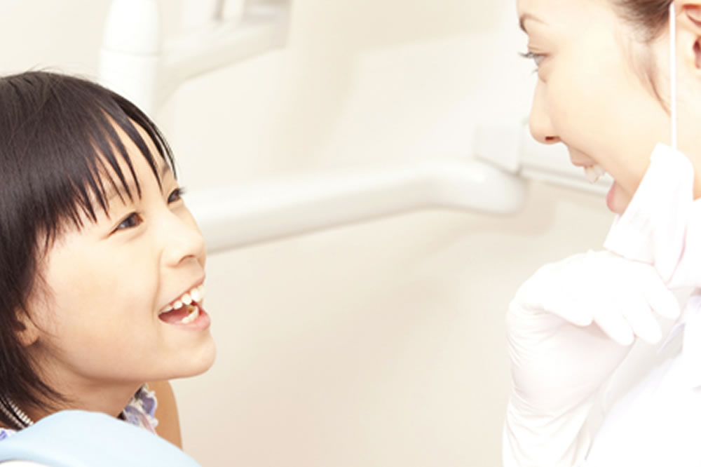 歯医者に慣れてもらう治療